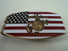 Marine Corps Money Clip USMC Challenge Coin Flag Semper US EGA American Flag