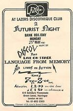 FUTURIST NIGHT/LAZERS-LONDON 1980