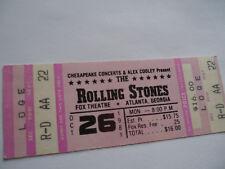 ROLLING STONES 1981 UNUSED__CONCERT TICKET__Houston__ASTRODOME