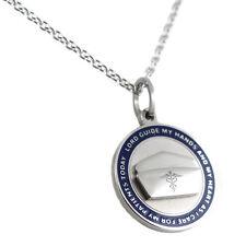 Nurse's Prayer Necklace With Blue Border
