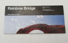 RAINBOW BRIDGE BROCHURE MAP GUIDE NATIONAL MONUMENT UTAH*NATIONAL PARK SERVICE