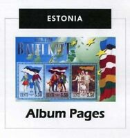 Estonia - CD-Rom Stamp Album 1918 - 2016 Color Illustrated Album Pages