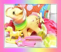 ❤️My Little Pony G1 Vtg Rainbow Ponies TRICKLES Glitter Original Brush & Comb❤️