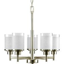 Progress Lighting P4459-09 Alexa Collection 5-Light Chandelier, Brushed Nickel