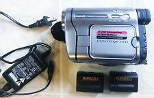 Sony Handycam DCR-TRV280 Digital 8 Camcorder Video Camera w/2 Batteries/Adapter