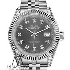 Rolex 26mm Datejust Oro Bianco & Acciaio Inox Dark Grey Quadrante Diamanti