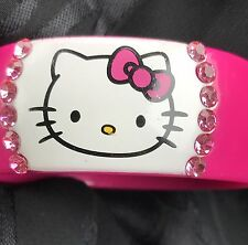 Hello Kitty Hot Pink Plastic Bangle Bracelet Sanrio RARE 2011