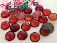 Vintage 15mm Translucent Marbled Amber Plastic Cabs 20