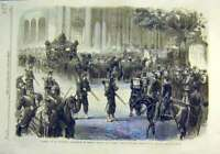 Old Antique Print Funeral Thouvenel France Minister Foreign Affairs 1866 19th