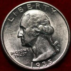 Uncirculated 1935-S San Francisco Mint Silver Washington Quarter