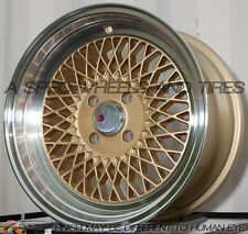 15X8 F1R F01 WHEEL 4x100 +25MM GOLD RIM FITS HONDA ACCORD CIVIC FIT