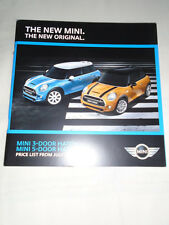 Mini 3 door & 5 door Hatch price list brochure Jul 2014