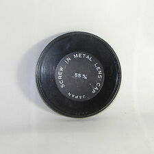 Used 55mm Screw-in Metal Lens Front Cap Made in Japan vintage for Filter Stack