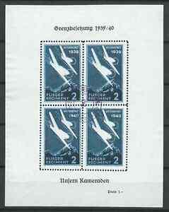 SWITZERLAND 1940 AIR CINDERELLAS USED BLOCK 4 NICE!