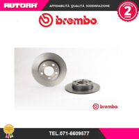 08716511 Coppia disco freno post Audi-Seat-Skoda-Vw (MARCA-BREMBO)