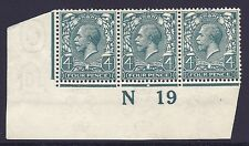 N23(6) 4d Bluish Grey Green Royal Cypher control N19 imperf UNMOUNTED MINT