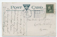 1911 East Holden ME handstamp flag cancel negative stars on postcard [4068]