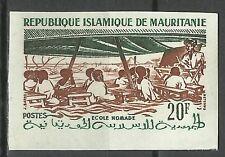 Mauritanie Mauritania Ecole Nomade Nomadic School Non Dentele Imperf ** 1960