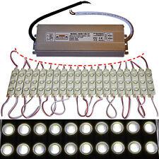 100x módulos LED + 150 vatios de alimentación - 12v 5730 chip neutral blanco 6000k inyección