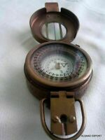 Brass Antique British Prismatic Military Vintage WW2 Mark Pocket Compass Gift
