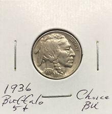 1936 Buffalo Nickel ~ *Choice BU* ~ Boldly Detailed Original Coin