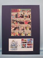 Dick Tracy in the famous Comic Strip and First Day Cover of his own stamp