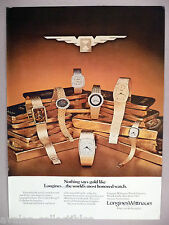 Longines Wittnauer Golden Wings Watch Collection PRINT AD - 1977 ~~ wristwatch