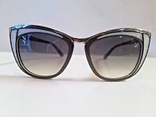 New Swarovski Semi Cat-Eye Plastic Sunglasses MOD DIVA SW61 53mm Made in Italy