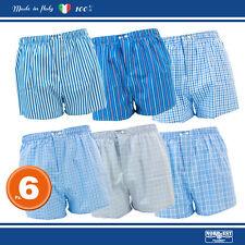6 Paia Boxer Nord-Est, Uomo - MONTECARLO 100% Cotone Popeline, S M L XL XXL XXXL