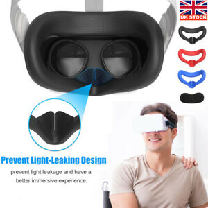 Silicone for Oculus Quest 2 VR Headset Glasses Face Cover Helmet Eye Cover Home