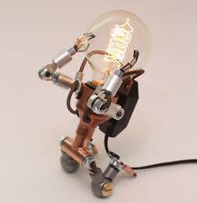 Robot Dimmer Brightness Adjustable LED Bulb Iron Metal Bedside Table Desk Lamp