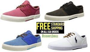 Polo Ralph Lauren Men's Classic Faxon Low Pumice Canvas Shoes Sneaker SIZE 7-13
