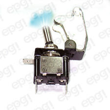 ON/OFF SPST 3P BLUE ILLUMINATED TOGGLE SWITCH w/TRANSPARENT COVER #662051/665016
