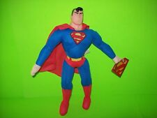 """NOS 1998 Superman 14"""" Play By Play Plush Toy With Tags NM Great Gift DC Comics"""