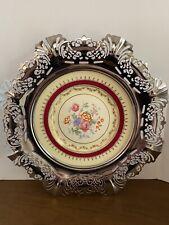 Vintage Farber Bros. Krome Kraft Plate Mid Century Floral Chrome Plate