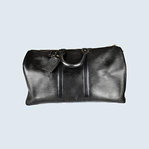 Louis Vuitton Keepall 45 Epi Schwarz Tasche Reisetasche
