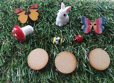 fairy garden accessories,rabbit  Mushroom, stepping stones butterflies