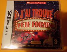"""Jeu nintendo DS J'ai trouvé Fête Foraine """" envoi suivi """""""