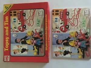 vintage topsy and tim jigsaw 20 pieces michael stanfield