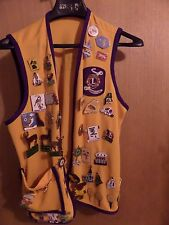 VINTAGE VEST WITH MANY MAINE LIONS CLUB LIONESS CLUB PINS WAS $75