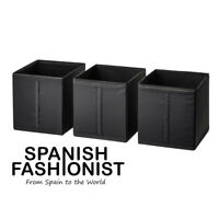 IKEA SKUBB Box storage, black, 31x34x33 cm x 3 piece