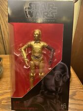 "Star Wars Black Series C-3PO Resistance Base Dark Red Arm Variant 6"" #29 TFA 3P0"