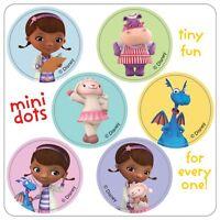 Doc McStuffins Stickers - 48 Dots Doc McStuffin Party Favour - Birthday Supplies