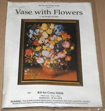 "Fine Arts Heritage / Jan Bruegl ""Vase with Flowers"" Cross Stitch Kit NIP 11x14"""