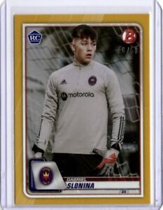 2020 Topps 2020 Bowman MLS #70 Gabriel Slonina Rookie Gold Card, Chicago Fire FC
