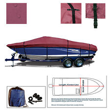 Bayliner 185 BR Bowrider All Weather Trailerable Storage Jet Boat Cover Burgundy