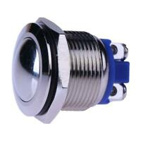 19mm Waterproof Car Metal Push Button Boat Horn Starter Momentary Switch Silver