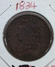 1834 Classic Head Half Cent / Very Fine VF+