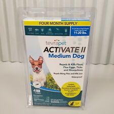 Tevrapet Activate Ii Medium Dog 11-20 lbs Flea & Tick Treatment 4 Month Supply