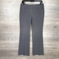 White House Black Market Women's Size 4S Short Dress Pants Flare Leg Gray